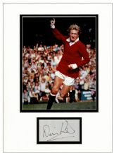 Denis Law Signed Autograph Signed Display - Manchester United